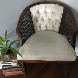 Vintage cane occasional accent chair