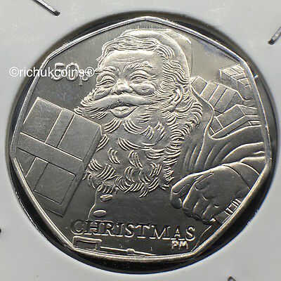 2011 IOM Xmas Diamond Finish 50p Coin