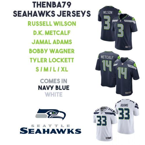 Seattle Seahawks Metcalf, Wilson, Lockett, Adams, Wagner Jerseys S/M/L/XL
