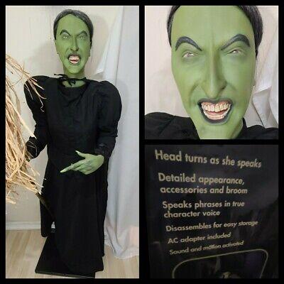 Gemmy Wizard of OZ Wicked Witch Talking Animated Halloween Life Size