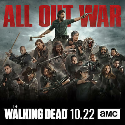 "The Walking Dead All Out War Season 8 Premiere Series Poster 20×20 24×24"" 32×32"""