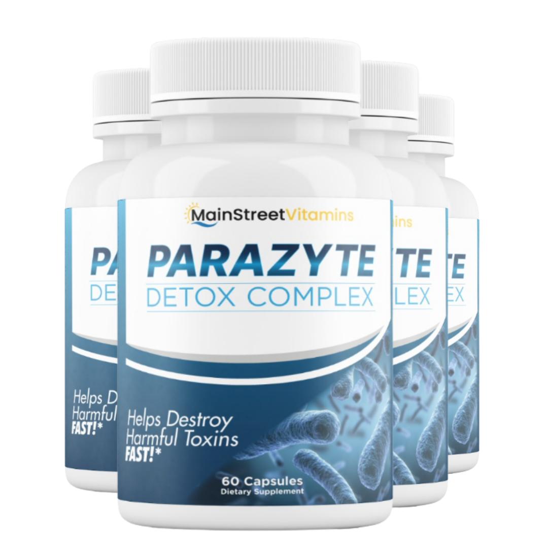 4 Bottles Parazyte Detox Complex Powerful Parasite Cleanse 60 Capsules