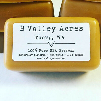 BEESWAX, 1 lb Block of Pure Triple Filtered Beeswax, Bulk Beeswax, All Natural