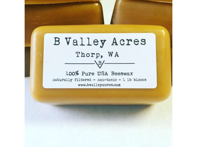 BEESWAX, 1 lb Block of Pure Triple Filtered Beeswa