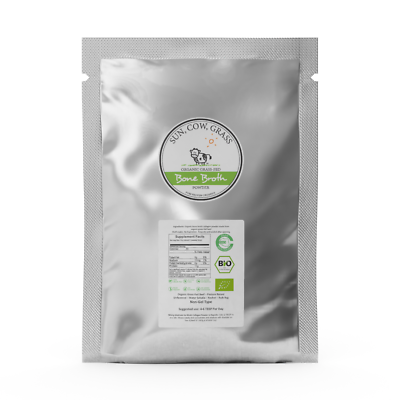 Bone Broth Powder - Pure Protein Organics - Grass-fed (1LB / 453g) D