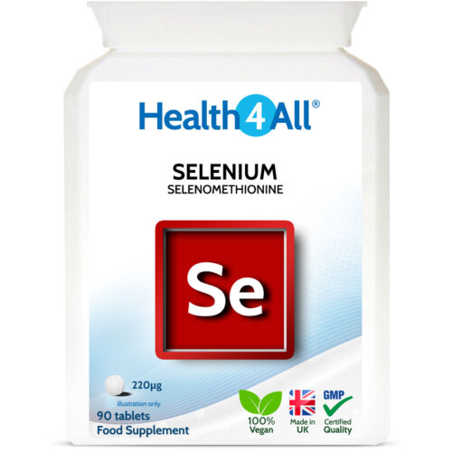 Health4All Selenium HIGH STRENGTH 220mcg Tablets (V) Immune Support Antioxidant