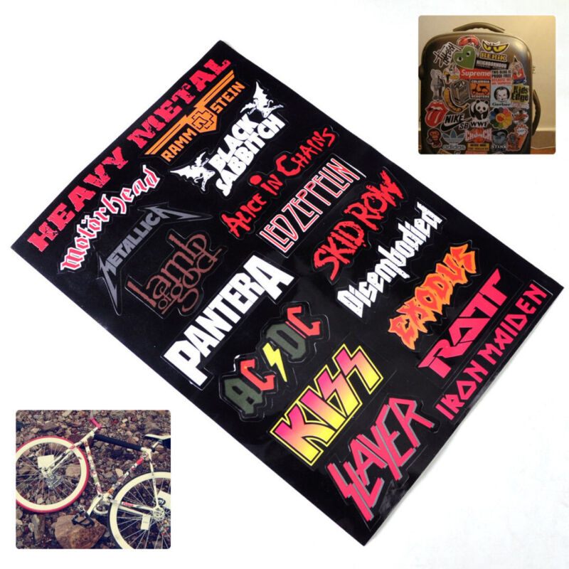 Home Decoration - Vinyl Heavy Metal Band Logo Rock Music Sticker Wall Laptop Luggage 11.6x 8.2""