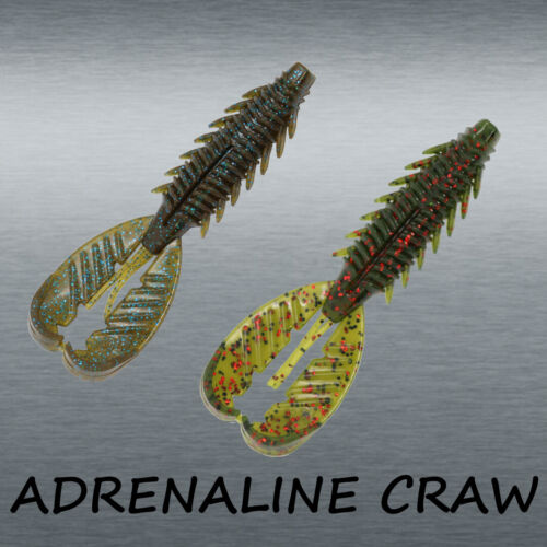 """NEW 2021 Xzone Lures Adrenaline Craw with Floating Claws 4.25"""" - Choose Color"""