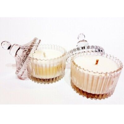 Clear Glass Jars (6-PC Clear Glass Candle Jar with Lid 3oz Small - FREE SHIPPING & US)