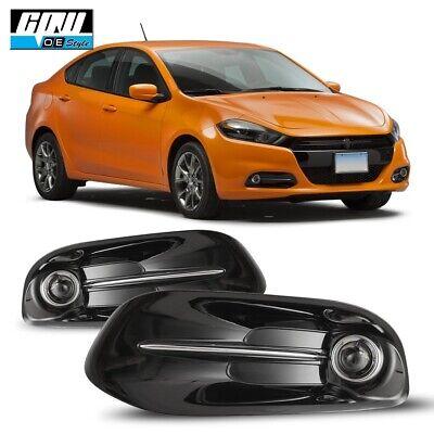 13-16 Fit Dodge Dart Clear Lens Pair OE Fog Light Lamp+Wiring+Switch Kit DOT