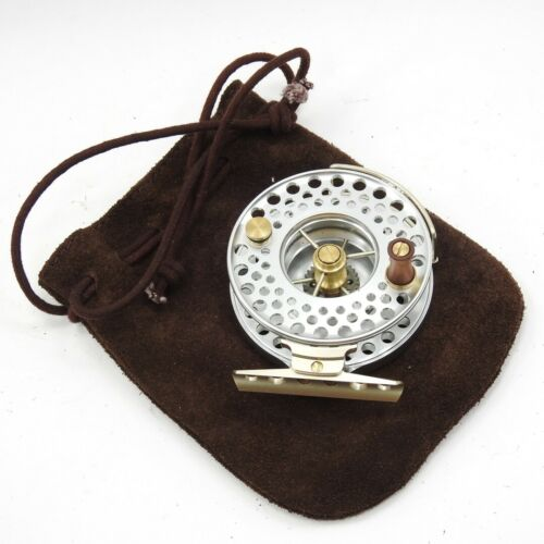"""J. Austin Forbes Aerial Fly Fishing Reel. 3"""". W/ Pouch and Manual."""