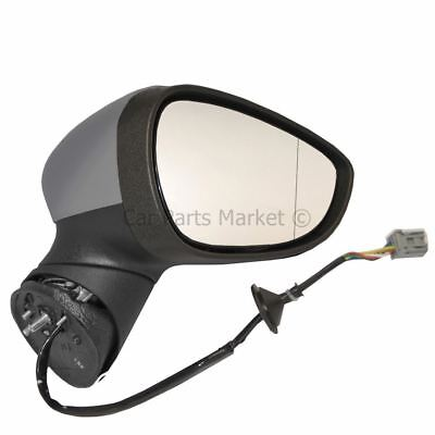 Primed Electric Heated Wing Door Mirror Unit Right OS for Ford Fiesta 2008 16