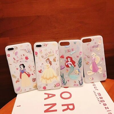 Disney Mermaid Princess Snow White Cell Phone Case Cover For iPhone 7 8 XsMax XR