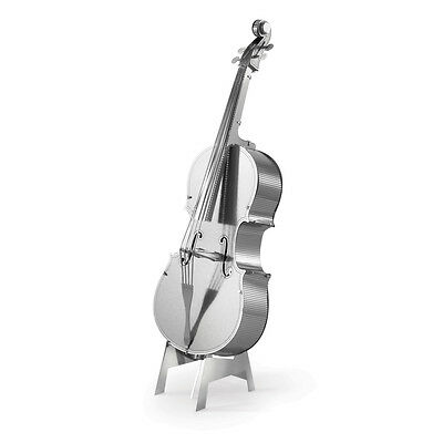 Bajo Fiddle Instrumentos musicales Kit Metal 3D Edición plata Metal Earth 1081