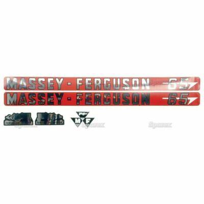 Massey Ferguson 65 Hood Decal Set