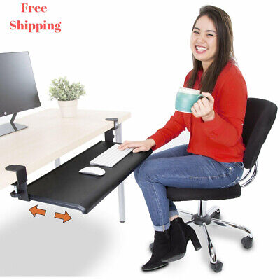Stand Steady Easy Clamp On Keyboard Tray - Large Size - Great for Home or - Office Trays