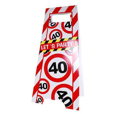 Gebruikt, Partyschild 40. Geburtstag Flurschild Party Aufsteller Schild Tafel tweedehands  verschepen naar Netherlands