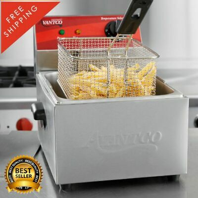 Electric Deep Fryer Countertop Commercial Restaurant Donuts Waffles 10 Lb Basket