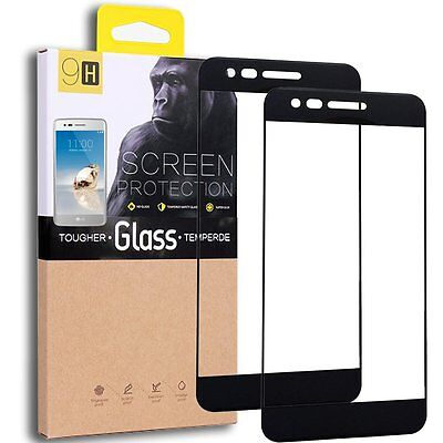 Lg Aristo  Lg K8 2017 Lglv3 Tempered Glass Screen Protector 2 Pack  Black Clear