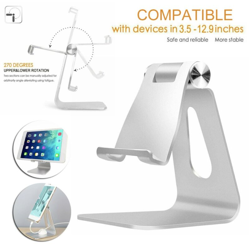 Universal Aluminum Tablet Stand Desktop Holder Mount For Cel