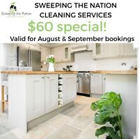 New client special cleaning promotion! $60