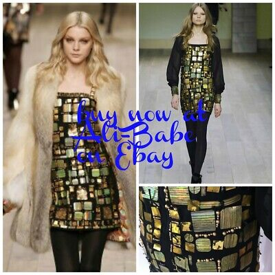 Emilio Pucci paillette embellished cocktail runway dress 2007 42 NWT $2590