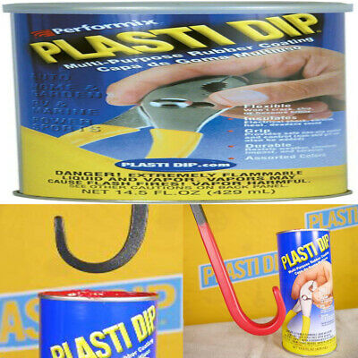 Plastic Dip Milti Purpose Rubber Coating Flexible Durable Grip Red 14.5 Ounce