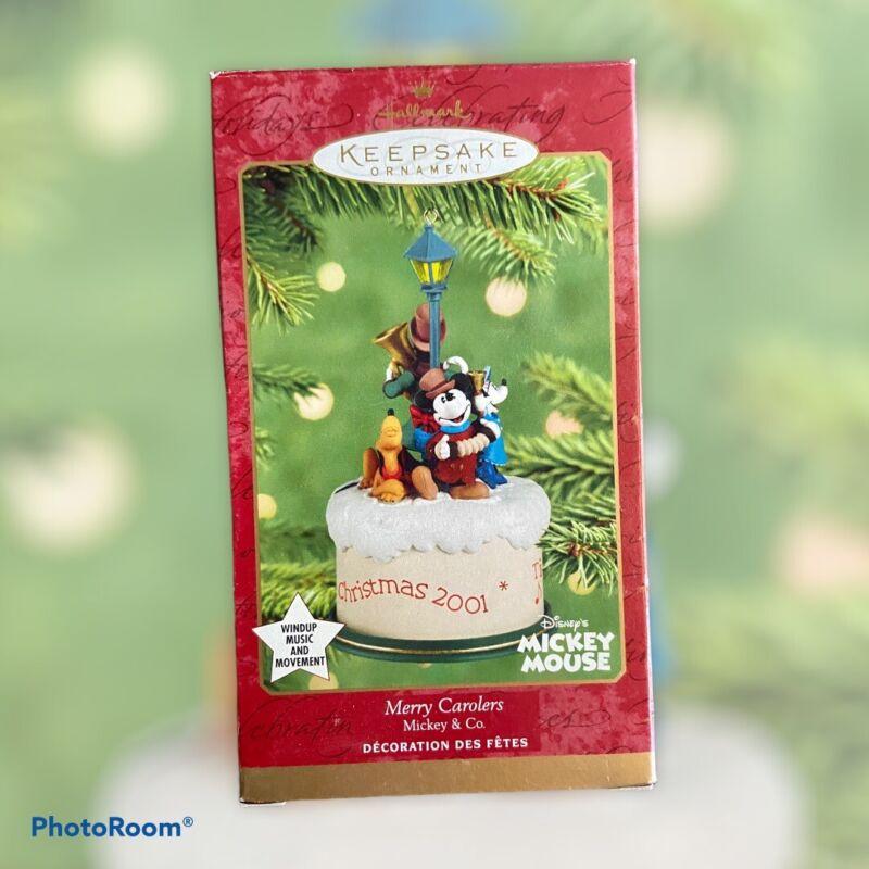 "Hallmark 2001 Christmas Ornament ""MERRY CAROLERS"" Mickey Mouse & Friends"