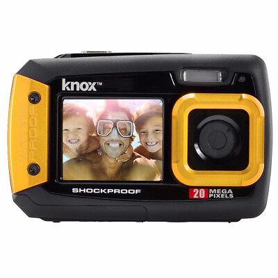 Knox Dual LCD Display 20MP Waterproof & Shockproof Digital Camera (Yellow)