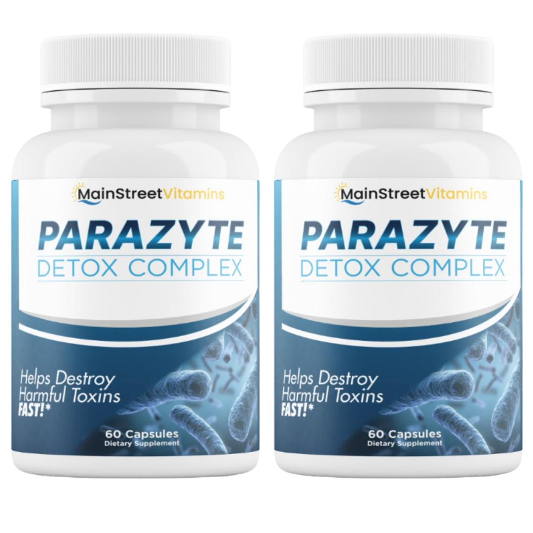 2 Bottles Parazyte Detox Complex Powerful Parasite Cleanse 60 Capsules