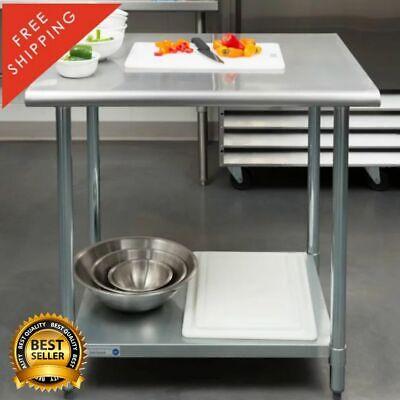 30 X 36 Stainless Steel Work Prep Table Undershelf Restaurant Nsf 18 Gauge