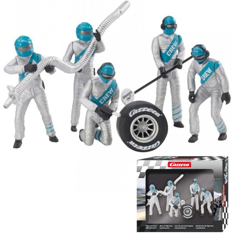Carrera 21133 Set of Figures Mechanics Carrera Crew Silver/Blue 1/32 Slot Car