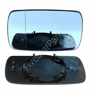 BMW 3 E46 1998–05 left side blue heated mirror glass