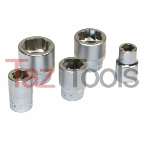 "5pc Damaged Bolt Nut stripped Remover Socket 3/8"" DR. 8, 10, 13, 17, 19mm CR-MO"
