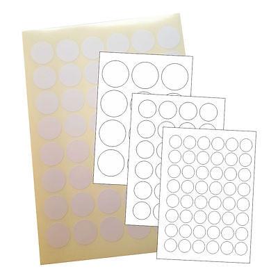Runde Universal Etiketten 10 Blatt A4 Weiß Rund Etiketten Format nach Wahl