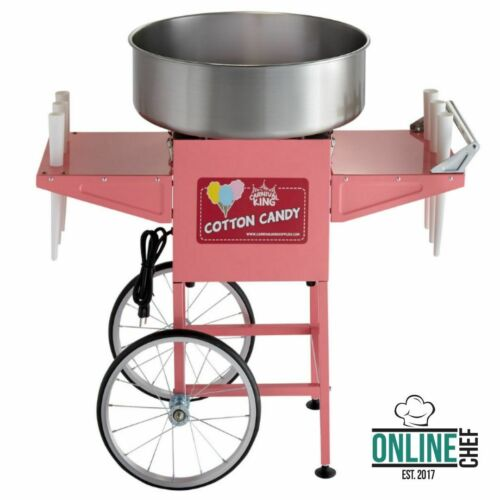 Carnival King Cotton Candy Machine Maker Cart Stand Commercial Party Electric