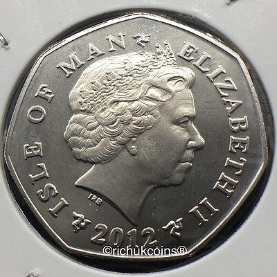 2012 IOM Xmas Diamond Finish 50p Coin