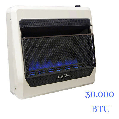 30000 Natural - Indoor 30000 BTU Natural Gas Blue Flame Vent Free Thermostat Wall Space Heater