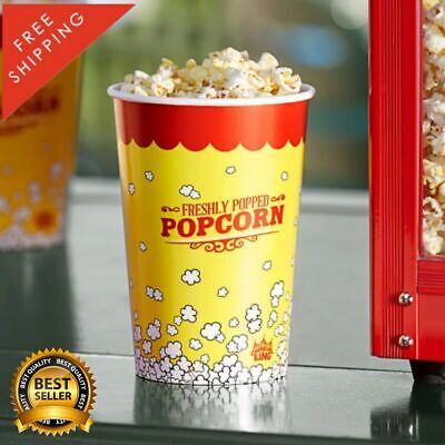 500 Pack 46 Oz Round Paperboard Concession Popcorn Cups Yellow Grease Proof