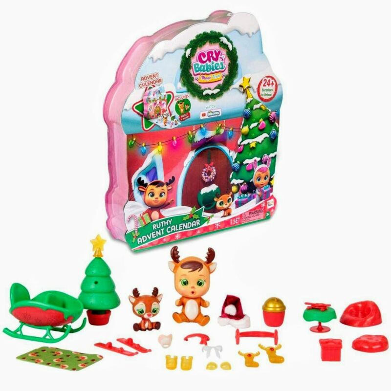 New Advent Calendar Cry Babies Magic Tears Ruthy 24 Surprises Exclusive Playset