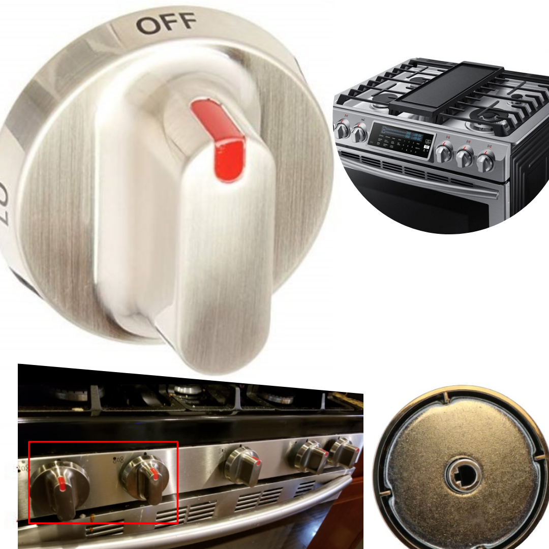 General Replacement Samsung Gas Range Dial Knob Metal Cookto
