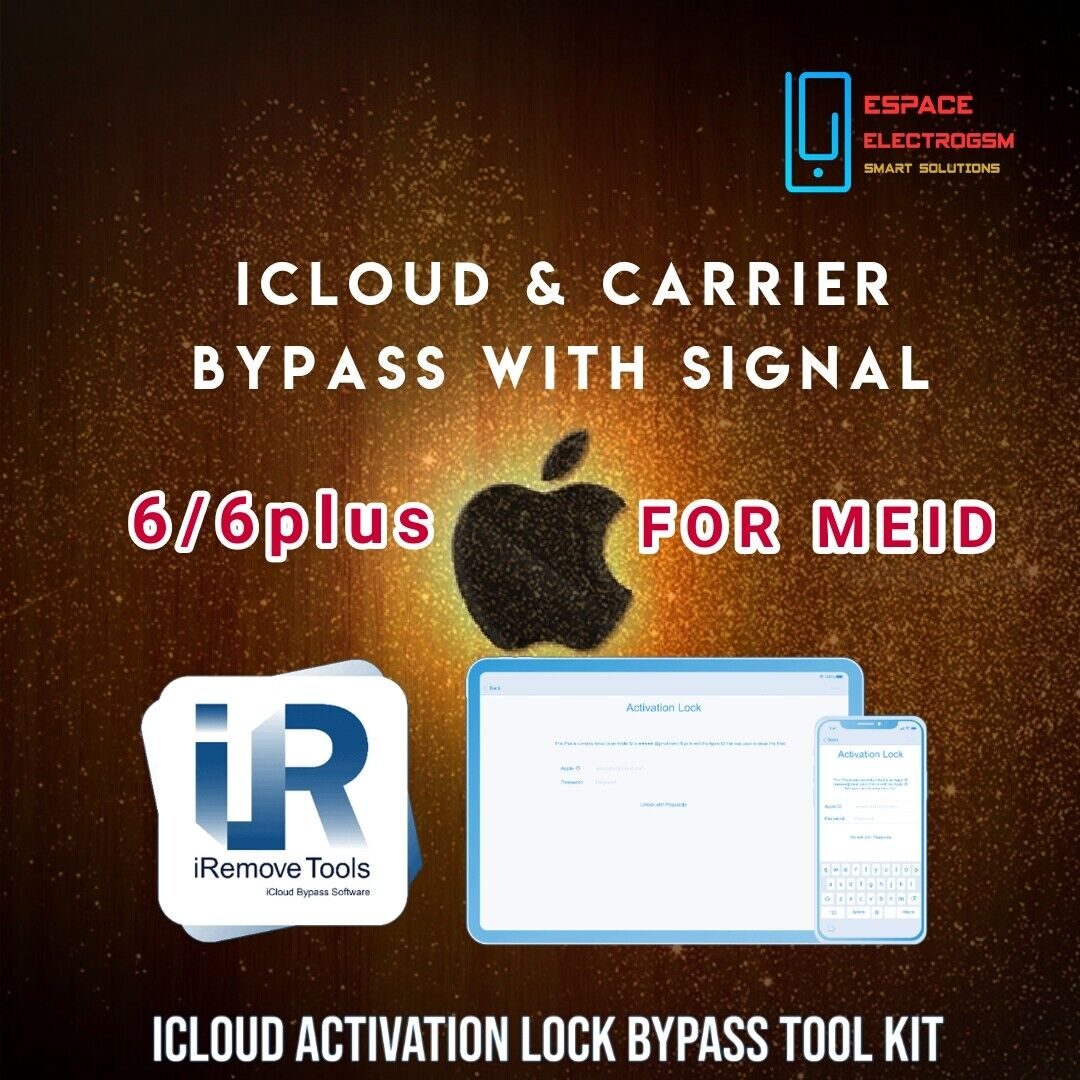 IRemove Tool ICloud Carrier Bypass With Signal MEID Iphone 6s/6s Instant - $49.55