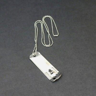 Bottle Opener Necklace Dog Tag Style Plain Chrome Ball Chain 25 Inch Chain (Plain Dog Tag Necklace)