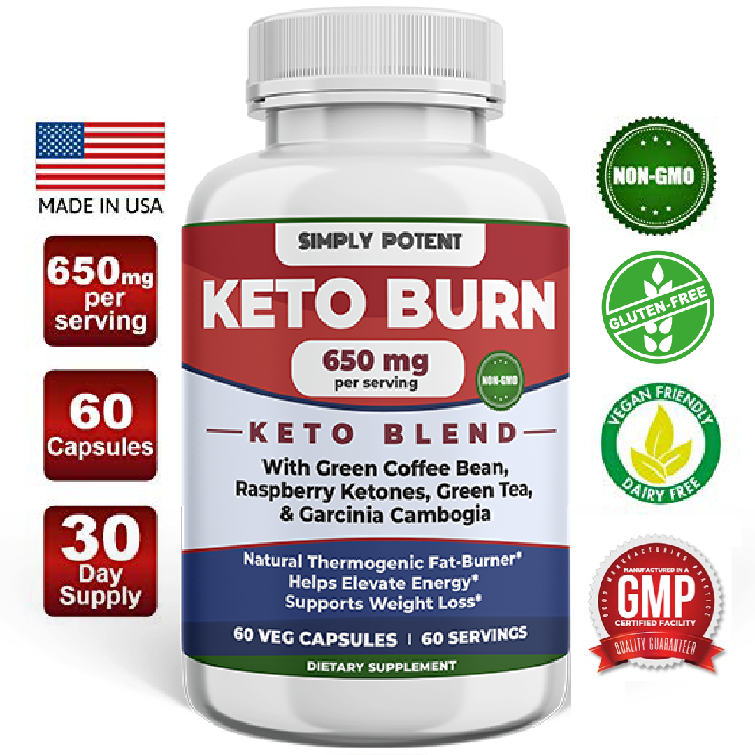Keto Weight Loss Supplement Fat Burn Pills-Garcinia Combogia, Green Tea & Coffee 1
