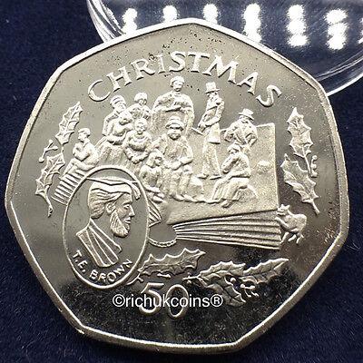 1997 IOM Xmas 50p Diamond Finish RE-STRIKE Coin