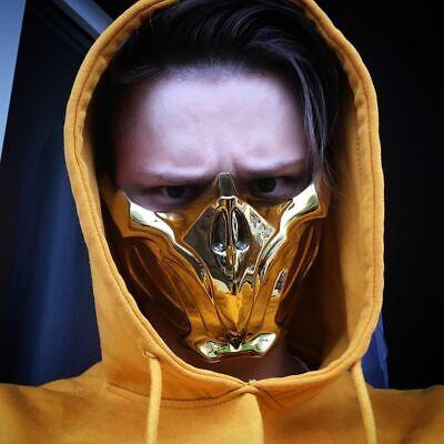 Scorpion mask from Mortal Kombat 11 GOLD CHROME (Scorpion Mask Mortal Kombat)