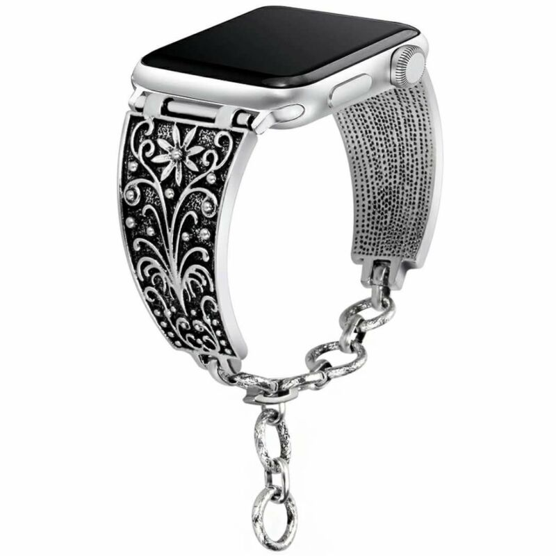 Women iWatch Vintage Chain Strap Band For Apple Watch Series