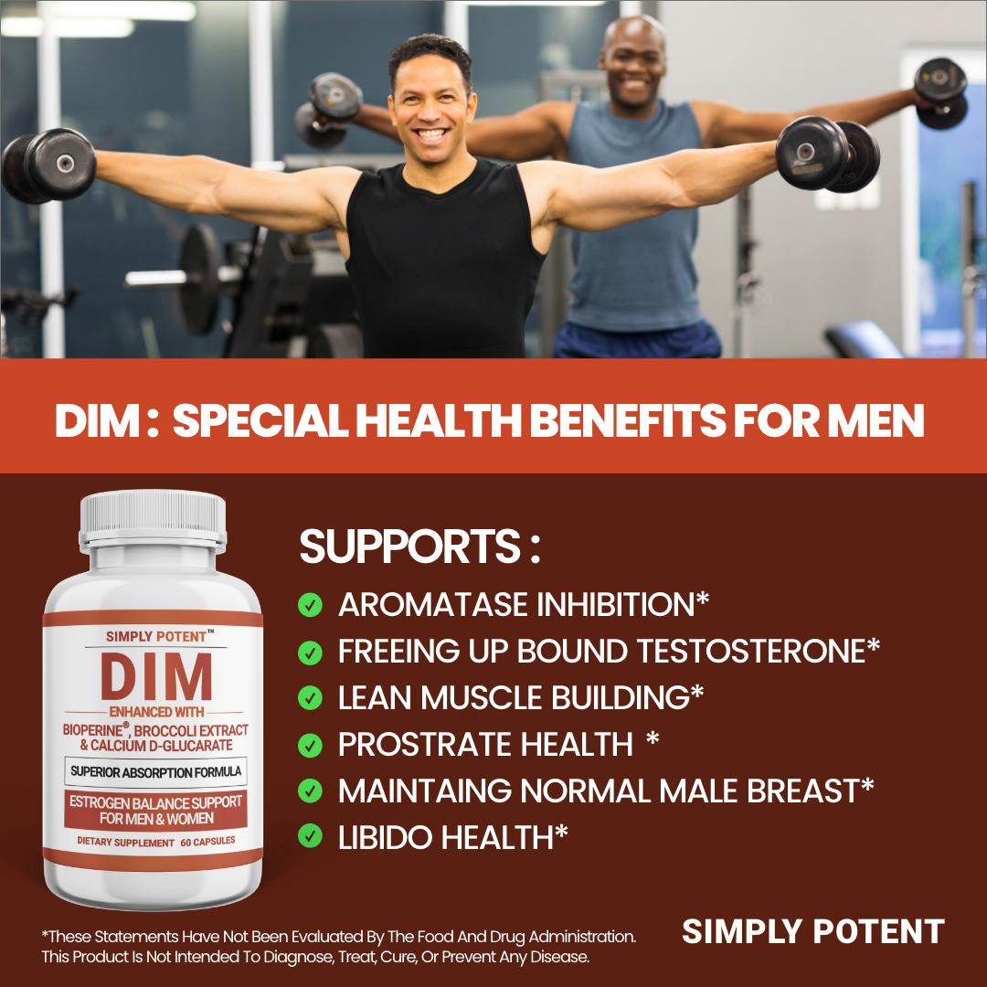 DIM Supplement 150mg + BioPerine for Menopause Relief Hot Flashes Estrogen Pills 8