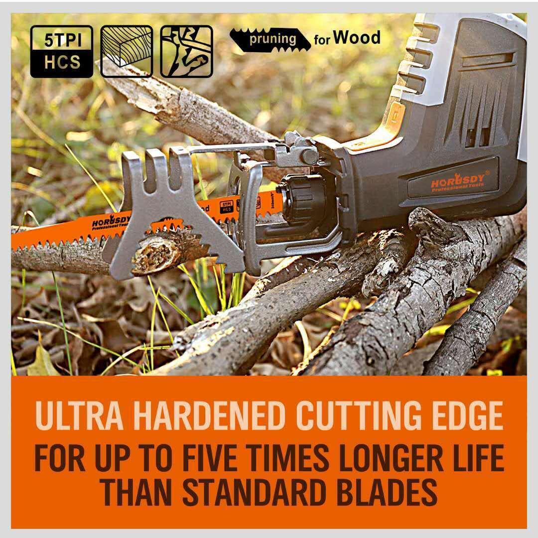 9.5 Reciprocating Saw Blades Pruning Blade 5TPI For Wood Tree Pruning 2Pcs//Set