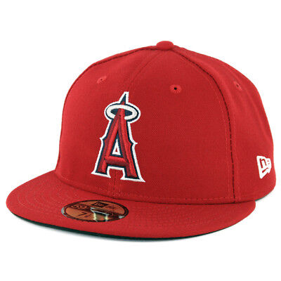 Anaheim Angels Cap - New Era 59Fifty Los Angeles Anaheim Angels GAME Fitted Hat (Red) MLB Cap